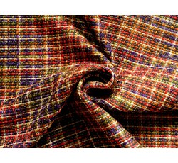 Kabátovky - kabátovka bukle chanel 8503 červeno fialová