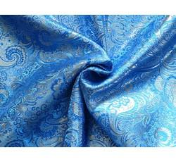 Brokáty - brokát 23 modro stříbrný