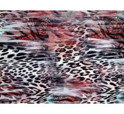 Úplety - dvouvrstvý úplet 8554 zvířecí vzor