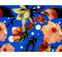 Šatovky - šatovka 8587 modrá s květy