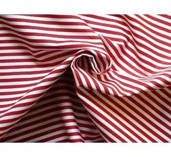 Bavlněné látky - bavlněná látka artcraft červená s proužky