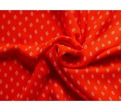 Halenkoviny - halenkovina 8653 červená se vzorem