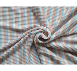 Úplety - žebrovaná pletenina 8708 růžový proužek