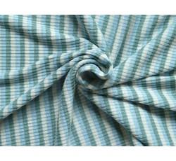 Úplety - žebrovaná pletenina 8708 modrý proužek
