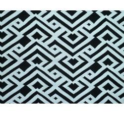 Úplety - úplet 8711 černo bílý vzor