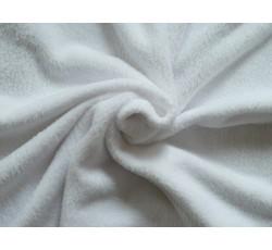 Fleece - coral fleece 100 bílý