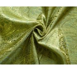 Brokáty - brokát 50 pistáciový zlatá výšivka