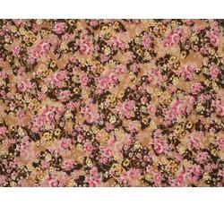 Tyly - elastický tyl 8885 růžové kvítky