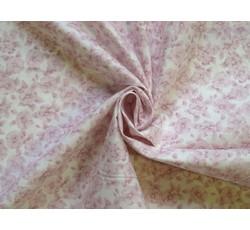 Bavlněné látky - bavlněná látka růžové květy