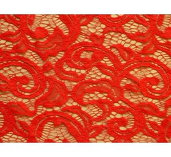 Krajky - elastická krajka 8933 červená