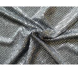 Flitrové látky - Pailetes 7 stříbrná