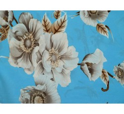 Halenkoviny - pomněnková hedvábná halenkovina 8850 s květy