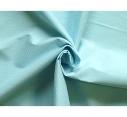 Bavlněné látky - bavlněný popelín 8936 sv.modrý s puntíky