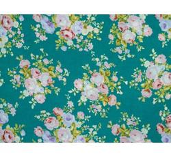 Halenkoviny - halenkovina 8970 zelená s květy
