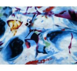 Bavlněné látky - bavlněná šatovka 9294 modrý vzor