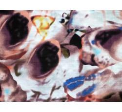 Bavlněné látky - bavlněná šatovka 9294 vínový vzor