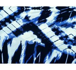 Úplety - polyesterový úplet 9325 modrý vzor