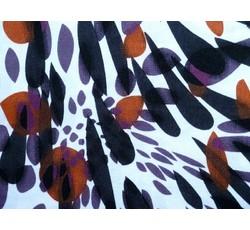 Plavkovina - bílý úplet 9339 barevné kapky II.jakost