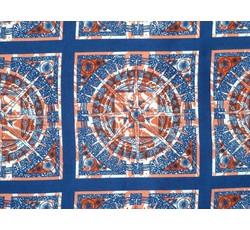 Hedvábí - hedvábná halenkovina 9311 modré čtverce