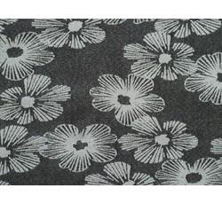 Rifloviny - černá elastická riflovina 9287 s květy