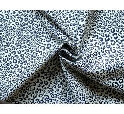 Bavlněné látky - bavlněná šatovka 9386 vzor leopard