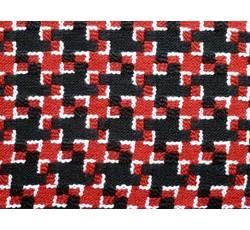 Kabátovky - kabátovka buklé 9376 černo červená