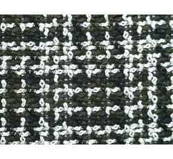 Kabátovky - kabátovka buklé 9376 černo zeleno bílá