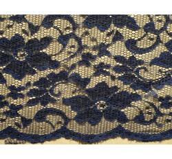 Krajky - elastická krajka 8842 tmavě modrá