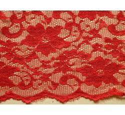 Krajky - elastická krajka 8842 červená