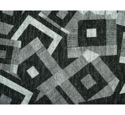 Úplety - černý úplet 9633 se čtverci