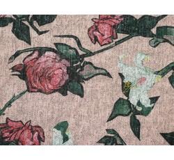 Úplety - lososový úplet 9633 s květy