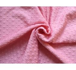 Úplety - růžový plastický úplet 9626 s puntíky II.j