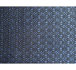 Krajky - černá krajka 9659 podšitá tmavě modrým saténem