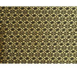 Krajky - černá krajka 9659 podšitá žlutým saténem