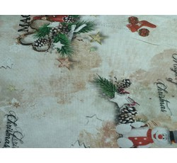 Vánoční bavlny - vánoční bavlněná látka se sněhuláčky