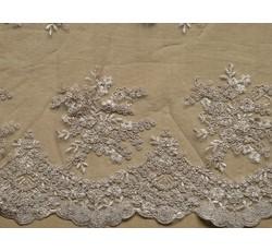 Krajky - starozlatá elastická krajka 9675
