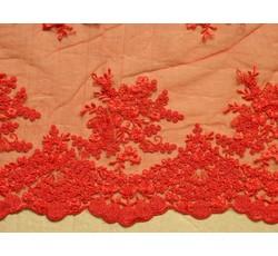Krajky - elastická krajka 9675 červená