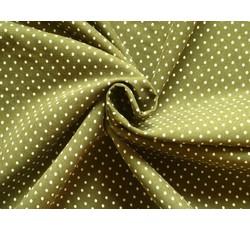 Manšestry - zelený manšestr 9667 s puntíky