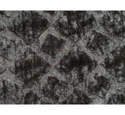Kabátovky - kožešina 9687 čtverce černá