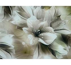 Hedvábí - šatovka hedvábí 9653 bronzová s květy