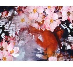 Šatovky - fialová hedvábná šatovka 9710 s květy