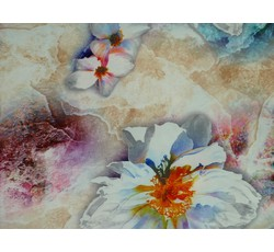 Halenkoviny - béžová šatovka 9769 s květy