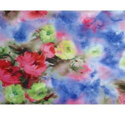 Halenkoviny - modrá šatovka 9769 s květy