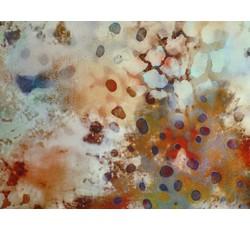 Hedvábí - hedvábná halenkovina 9771 medová s kamínky