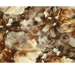 Hedvábí - hedvábná halenkovina 9778 hnědý květ