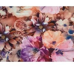 Hedvábí - hedvábná halenkovina 9778 růžový květ