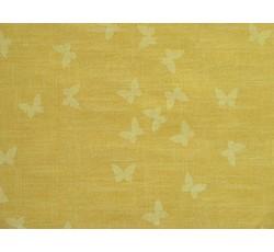 Bavlněné látky - bavlněná látka žlutá s motýlky