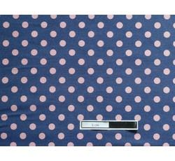 Rifloviny - modrá košilová džínovina 9784 růžový puntík