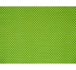 ... látky › bavlna puntík › bavlněná látka zelená puntík