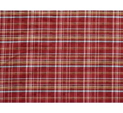 Halenkoviny - košilová látka 9850 vínová kostkovaná